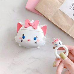 ốp airpods mèo đeo nơ
