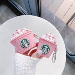 ốp airpods starbuck hồng